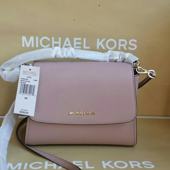 cdf61ce3d7 Michael Kors Sofia Small EW Satchel Leather Fawn. NWT